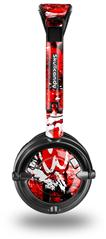 Red Graffiti Decal Style Skin fits Skullcandy Lowrider Headphones (HEADPHONES  SOLD SEPARATELY)