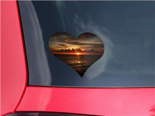 Set Fire To The Sky - I Heart Love Car Window Decal 6.5 x 5.5 inches