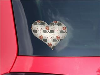 Elephant Love - I Heart Love Car Window Decal 6.5 x 5.5 inches