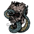 Skull Snake 20x24 inch - Fabric Wall Skin Decal