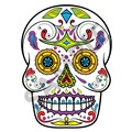 Sugar Skull 01 47x64 inch - Fabric Wall Skin Decal
