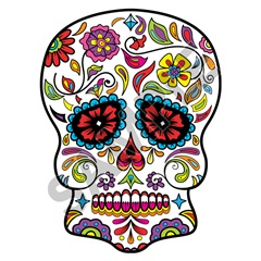 Sugar Skull 02 47x63 inch - Fabric Wall Skin Decal