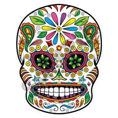 Sugar Skull 03 47x61 inch - Fabric Wall Skin Decal