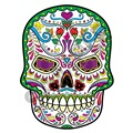 Sugar Skull 05 47x62 inch - Fabric Wall Skin Decal