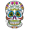 Sugar Skull 08 16x24 inch - Fabric Wall Skin Decal