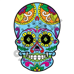 Sugar Skull 17 32x48 inch - Fabric Wall Skin Decal