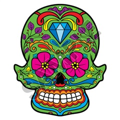 Sugar Skull 19 20x24 inch - Fabric Wall Skin Decal