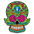 Sugar Skull 19 47x57 inch - Fabric Wall Skin Decal