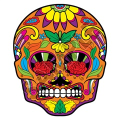 Sugar Skull 24 40x48 inch - Fabric Wall Skin Decal