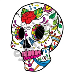 Sugar Skull 26 47x62 inch - Fabric Wall Skin Decal