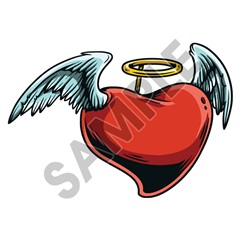 Heart Angel 68x47 inch - Fabric Wall Skin Decal