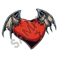Heart Devil 63x47 inch - Fabric Wall Skin Decal