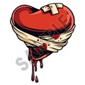 Heart In Bandages 20x24 inch - Fabric Wall Skin Decal