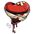Heart In Bandages 47x57 inch - Fabric Wall Skin Decal