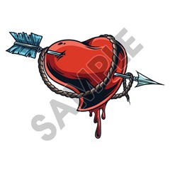 Heart Roped 70x47 inch - Fabric Wall Skin Decal