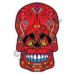 Sugar Skull 32 15x24 inch - Fabric Wall Skin Decal