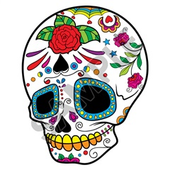 Sugar Skull 38 47x59 inch - Fabric Wall Skin Decal