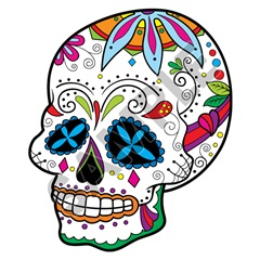 Sugar Skull 40 47x56 inch - Fabric Wall Skin Decal