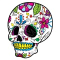 Sugar Skull 42 39x48 inch - Fabric Wall Skin Decal