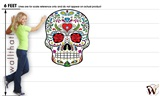 Sugar Skull 44 37x48 inch - Fabric Wall Skin Decal