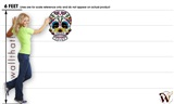 Sugar Skull 47 17x24 inch - Fabric Wall Skin Decal