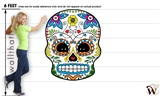 Sugar Skull 48 47x59 inch - Fabric Wall Skin Decal