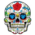 Sugar Skull 49 47x57 inch - Fabric Wall Skin Decal