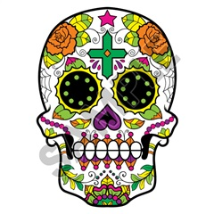 Sugar Skull 50 34x48 inch - Fabric Wall Skin Decal