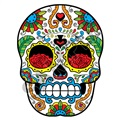 Sugar Skull 51 18x24 inch - Fabric Wall Skin Decal