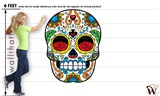 Sugar Skull 51 47x61 inch - Fabric Wall Skin Decal