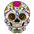 Sugar Skull 52 47x58 inch - Fabric Wall Skin Decal