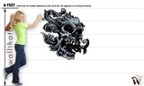 Skull 01 45x48 inch - Fabric Wall Skin Decal