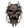 Skull 02 16x24 inch - Fabric Wall Skin Decal
