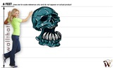 Skull 04 35x48 inch - Fabric Wall Skin Decal