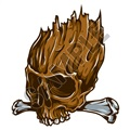 Skull 07 42x48 inch - Fabric Wall Skin Decal