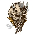 Skull Deamon 04 16x24 inch - Fabric Wall Skin Decal