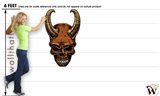Skull Deamon 07 30x48 inch - Fabric Wall Skin Decal