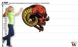 Skull Deamon 10 47x47 inch - Fabric Wall Skin Decal