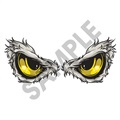 Predator Eyes Eagle 24x10 inch - Fabric Wall Skin Decal