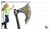 Medieval Weapons Axe 01 47x120 inch - Fabric Wall Skin Decal