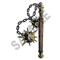 Medieval Weapons Ball Mace 01 47x95 inch - Fabric Wall Skin Decal