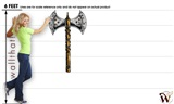 Medieval Weapons Battle Axe 01 29x48 inch - Fabric Wall Skin Decal