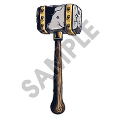 Medieval Weapons Hammer 01 10x24 inch - Fabric Wall Skin Decal