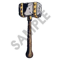 Medieval Weapons Hammer 01 20x48 inch - Fabric Wall Skin Decal