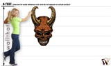 Skull Ram Horns 04 30x48 inch - Fabric Wall Skin Decal